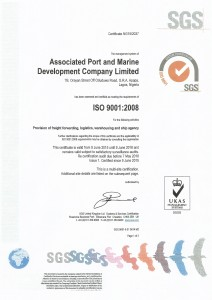 SGS ISO Certificate APMDC